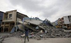 Zemestrīcē Ekvadorā bojāgājušo skaits pieaug līdz 350 cilvēkiem