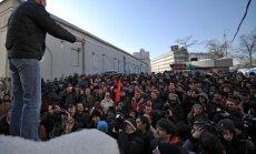 Maskavā nesankcionētā protestā aiztur Udaļcovu, Navaļniju un Jašinu