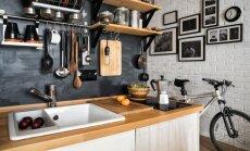 Kad plauktu ir mazāk nekā glabājamo lietu – radoši risinājumi virtuvēm