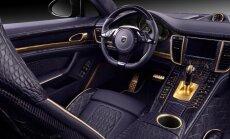 Krievu pārveidotais 'Porsche' ar violetu krokodila ādu un zeltu