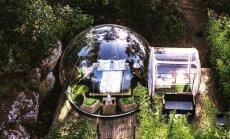 Nakšņošana 'burbulī': kupolam līdzīga viesnīca Francijā zem klajas debess