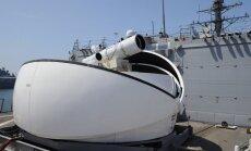 Uz ASV karakuģa uzstādīts lāzera lielgabals