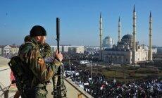 Čečenijā tūkstošiem cilvēku protestē pret pravieša Muhameda karikatūrām