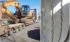Foto: CSDD reidā Jaunolainē trim kravas auto noņemtas numurzīmes