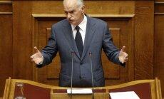 Grieķijas premjers atsakās no referenduma idejas; cer, ka valdība vienosies ar opozīciju