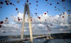 ФОТО, ВИДЕО: В Стамбуле открыт третий мост через Босфор