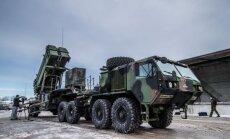 Foto: Igaunijā demonstrē amerikāņu 'Patriot' raķešu sistēmu