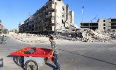 Sīrijā pie Alepo diennakts laikā kaujās nogalināti vairāk nekā 70 cilvēku