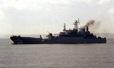 Netālu no Latvijas krastiem pamanīti divi Krievijas bruņoto spēku kuģi