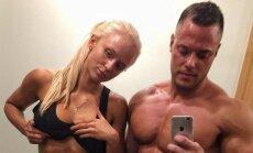 Romantika un muskuļi: iemīlējušies Latvijas fitnesa skaistuļi atrāda iespaidīgos ķermeņus