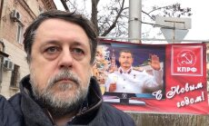 Krimas ielās parādījusies Jaungada reklāma ar Staļinu