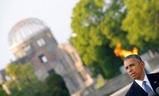 Obama Hirosimā apliecina cieņu atomsprādziena upuriem