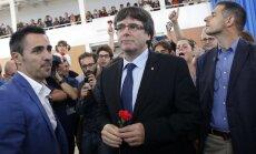 Katalonija ir ieguvusi tiesības uz neatkarību, pēc referenduma paziņo Pudždemons