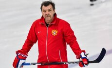 The Russian hockey team head coach Oleg Znarok