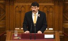Ungārijas prezidentu satraucot publisko debašu degradēšanās