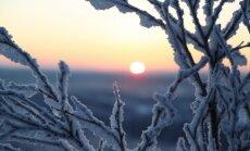 В Латгалии ночью похолодало до -24 градусов