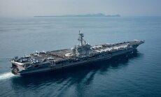 Japānas karakuģi pievienojas ASV aviācijas bāzes kuģim