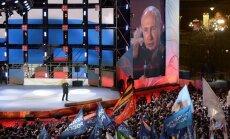 Krievijas prezidenta vēlēšanās ar 76,6% balsu uzvarējis Putins