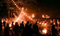 Foto: Liesmas, buras un skaistas melodijas – kā piektdienas novakarē ieskandināja Rīgas svētkus