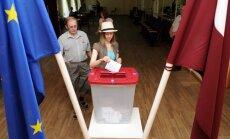 Uzvaru EP vēlēšanās prognozē 'Vienotībai'; vēlētāju aktivitāte rekordzema (teksta tiešraides arhīvs)