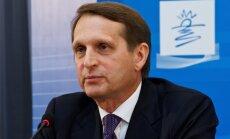 Krievijas Valsts domes spīkers: diskusija par krievu valodas statusu bijušajās padomju valstīs ir dabiska un attaisnojama