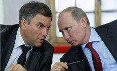 Putins Valsts domes spīkera amatam izvirza Volodinu; Nariškins kļūst par izlūkdienesta priekšnieku