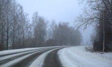 Otrdienas rītā Latvijā braukšanas apstākļi ir apmierinoši