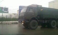 Video: Volgogradā iebrauc armijas auto kolonna