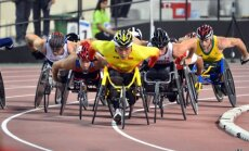 Foto: Latvijas sportisti pasaules paralimpiskajā vieglatlētikas čempionātā Dohā
