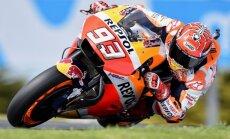 Kopvērtējuma līderis Markess uzvar Austrālijas 'Grand Prix' kvalifikācijā 'MotoGP' klasē