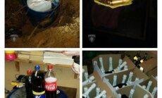 Vērienīgā operācijā Jūrmalā policija atrod lielu nelegālā alkohola un cigarešu apjomu