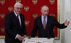 Vācijas prezidents Maskavā cenšas uzlabot attiecības ar Krieviju