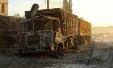 Kūpoši vraki un sodrēji: kas palicis pāri no Sīrijā sabombardētā humānā konvoja