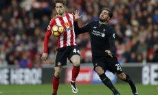 'Liverpool' izlaiž uzvaru pār 'Sunderland' un apgrūtina 'Chelsea' ķeršanu