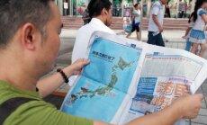 Ķīnas laikraksts publicē Japānas karti ar atomsprādzieniem