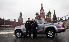 Foto: Ātrākais brauciens ar auto no Dakaras līdz Maskavai
