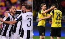 'Barcelona' nespēj pieveikt 'Juventus'; 'Monaco' atkal uzvar 'Borussia'
