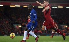 'Liverpool' un 'Chelsea' cīnās neizšķirti Anglijas premjerlīgas mačā
