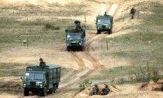 Brīdina par militārā transporta kolonnām uz Tallinas šosejas