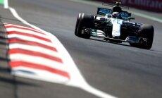 Botass izmanto Hamiltona avāriju un trešo reizi karjerā uzvar F-1 kvalifikācijā