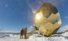 ФОТО: За Полярным кругом построили золотое яйцо. И оно не для медведей