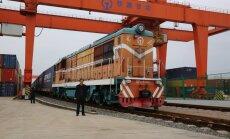 ФОТО: Из Китая в Латвию отправился первый в истории контейнерный поезд