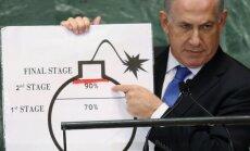 Netanjahu: ES ir jāpastiprina spiediens pret Irānu