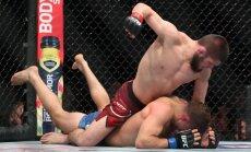 ВИДЕО, ФОТО: Российский боец Хабиб Нурмагомедов впервые стал чемпионом UFC
