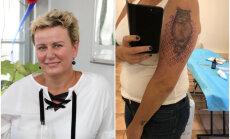 ФОТО: Линда Мурниеце похвасталась новой татуировкой
