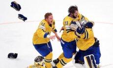 Fotoreportāža: zviedru 'zelta' diena pasaules hokeja čempionātā