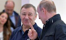 Putina draugs Rotenbergs, apejot sankcijas, esot ieguldījis miljardu īpašumos Vācijā