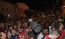 """ФОТО, ВИДЕО: Болельщики """"Вашингтона"""" сходят с ума после победы в Кубке Стэнли"""