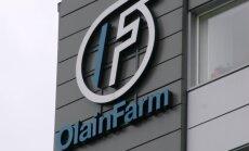 'Olainfarm' realizācija augustā sasniedz 6,76 miljonus eiro
