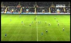 Video: Ņūkāslas 'United' jaunais futbolists atkārto Maradonas 'Dieva roku'